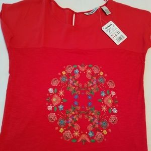 DESIGUAL RED TOP